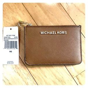 NWT Michael Kors Jet Set Coin Pouch w/ID holder